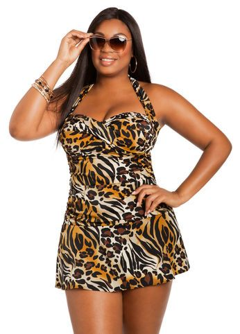 I am so ready for summer. I love how the plus size swimwears are no longer boring. This is cute and affordable $79.50. Plus size swimsuits 2014