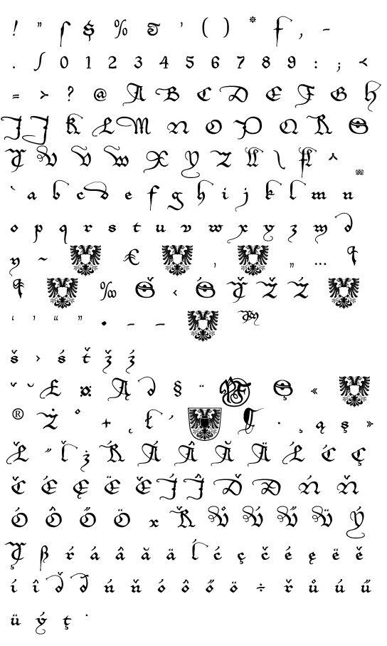 Mapa fontu EtBoemieRex