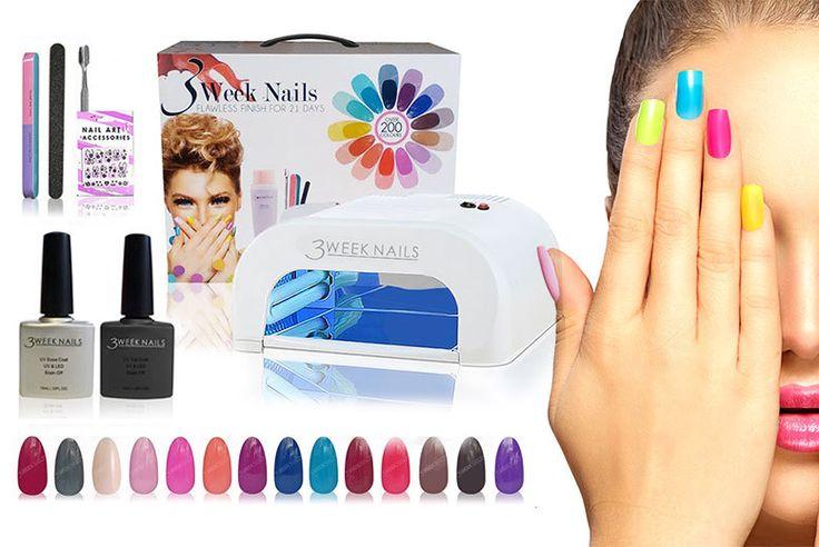 10pc UV Gel Nail Polish & Accessories Kit