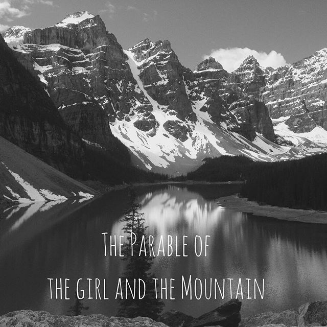 """{After some time, she finally spoke. """"Lord, what's happening? What is this pain?""""  .  The Teacher's heart was breaking with the Truth. """"It is another mountain,"""" He said...}  .  Jesus still speaks to me in parables. New post up on the blog. Link in bio: """"The Parable of the Girl and the Mountain"""". 🌼  .  .  .  .  .  #newblogpost #blogitup #bloggerlife #movemountains #throughmountains #findyourdiamonds #hesaid #parables #writtenword #truth #blackandwhitephotography #lakelouise #alberta #canada"""