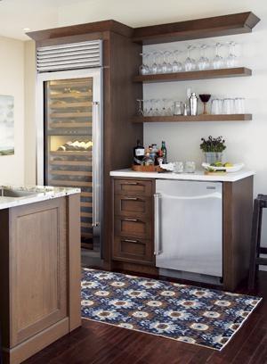 Sleek beverage center for home  Room Design  Beverage
