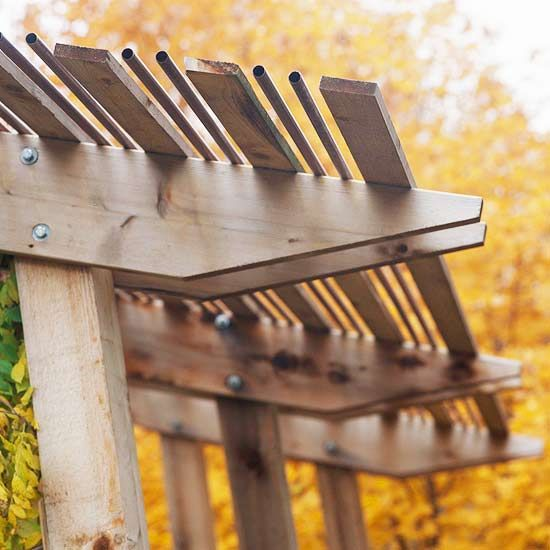 Fall Garden Retreats Copper Decks And Pergola Roof
