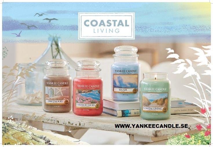 Coastal Living från Yankee Candle - fyra nya dofter med längtan till havet. #YankeeCandle #CoastalLiving #DoftAvHav #DriftWood #GardenByTheSea #SeaAir