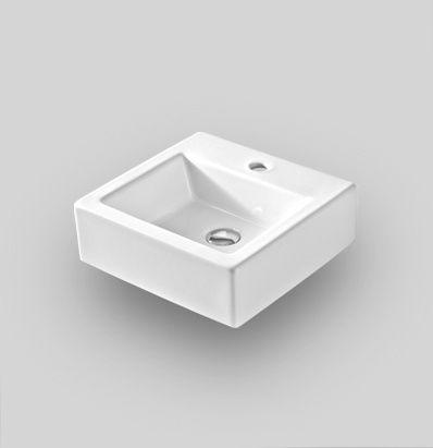 TFL021 wall hung countertop washbasin 40 x 38,5