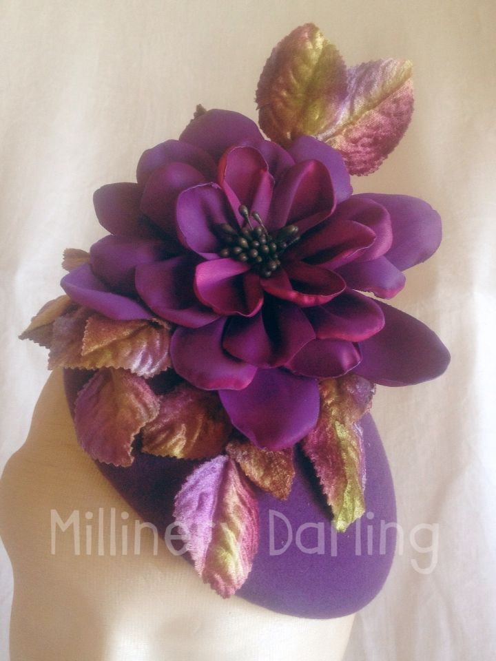 Purple felt fascinator AW2015-1 For Sale $200 + p&h Go to my Facebook page & Comment 'Sold' against this item. & PM me your email & postal address. #millinery #millinerydarling #racingfashion