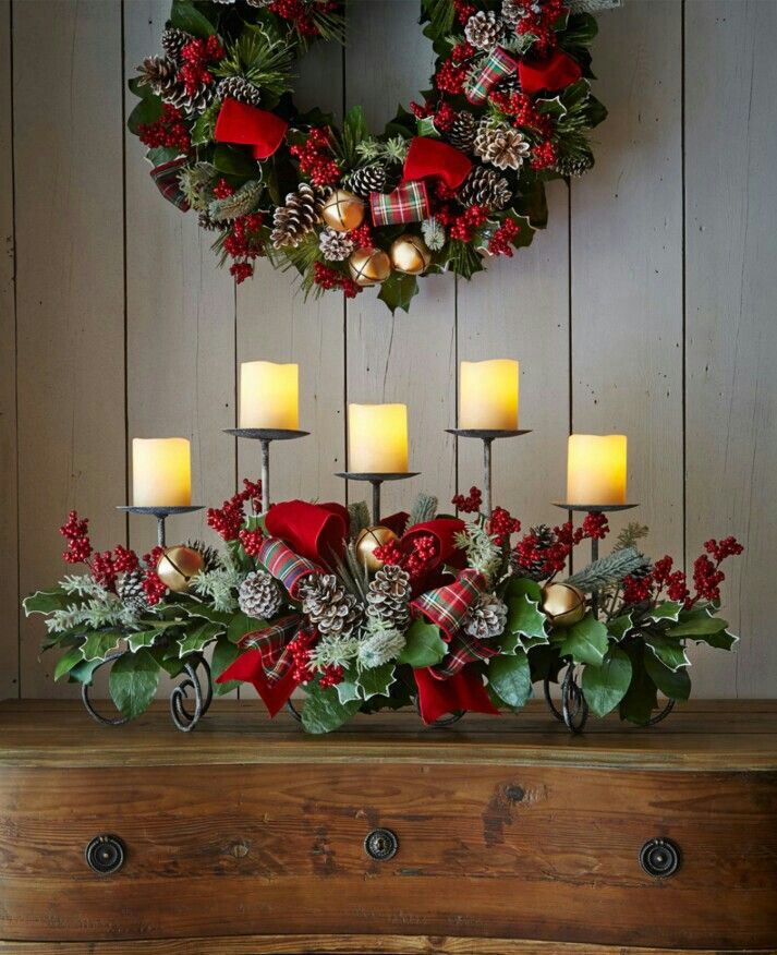 I have this exact candle holder and I love this look for Christmas