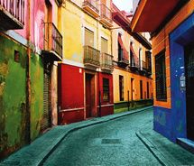 Colorful buildings #ridecolorfully