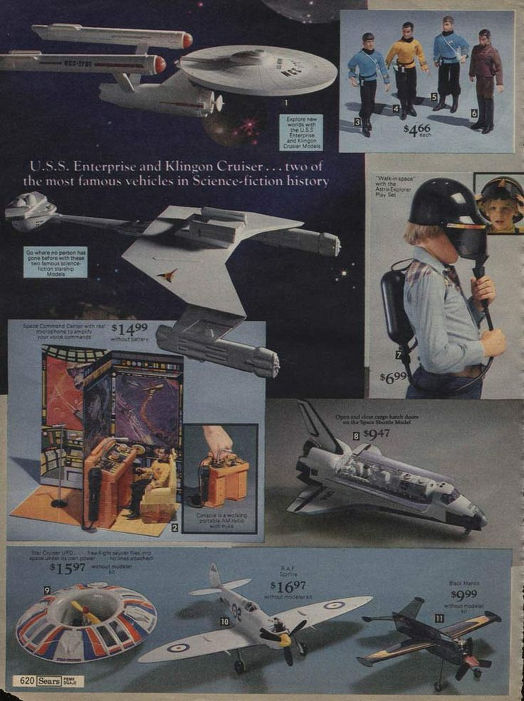 Star Trek Toys from a 1979 catalog #vintage #1970s #toys