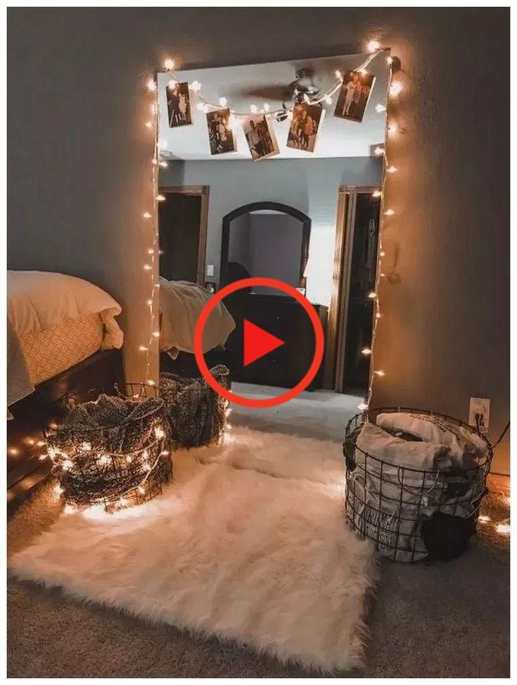42 Simple Holiday Decorating Ideas Met Lichten Apartmentdecorating Holidaydecorating Bedroom Decor Room Decor Room Decor Bedroom