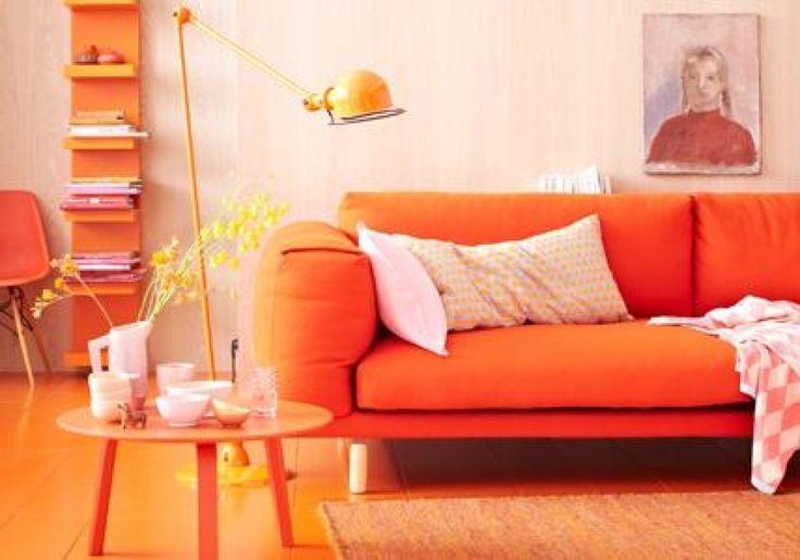 wohnzimmer deko orange einrichten und wohnen mit orange mbel und ...