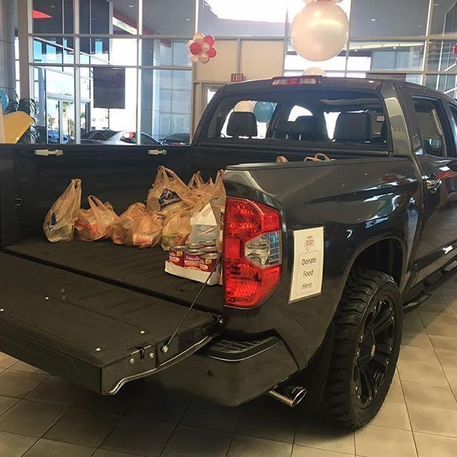 The truck in our Showroom is filling up fast with non-perishable food items!  Stop by today and help fill the truck up even more and help out the less fortunate this upcoming holiday season!