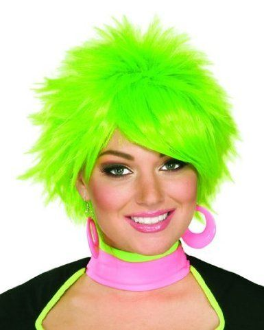Private Island Party  - 80's St Patricks Day Unisex Green Wig 6081, $4.99 (http://privateislandparty.com/products/80s-st-patricks-day-unisex-green-wig-6081/)