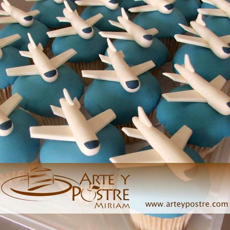 cupcakes de avion - Buscar con Google