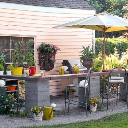 1000 ideas about simple outdoor kitchen on pinterest for Simple outdoor kitchen plans