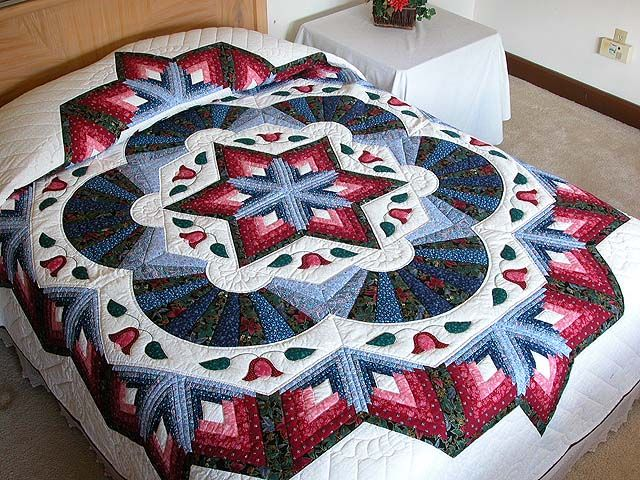Cathedral Star Quilt -- exquisite specially made Amish Quilts from Lancaster (hs726)