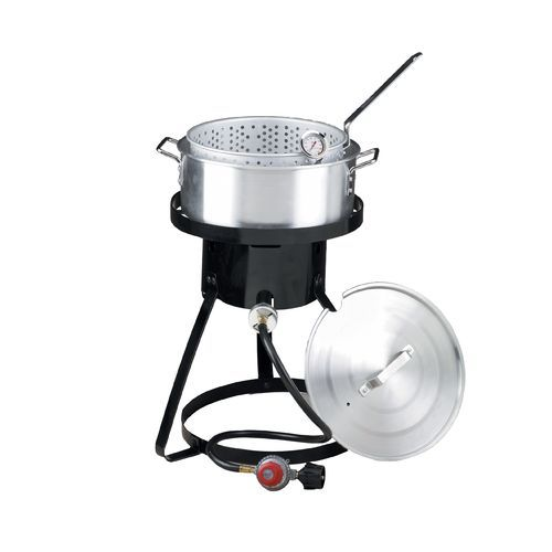 outdoor gourmet 1burner propane fish fryer set