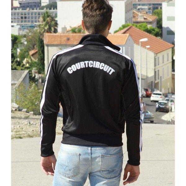"""""""Zipper Bryan 08"""" telle est baptisée cette veste noire et blanche véritable produit  sportswear """"chic"""" pour homme. Elle peut aussi bien s'accorder avec un jean qu'avec un bas de survêtement pour des activités sportives ou urbaines. Disponible sur : http://courtcircuit.fr/survetement/31-zipper-bryan-08.html"""