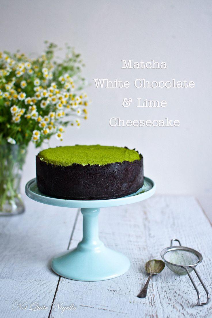 Clara, The Eight Times Matcha White Chocolate Lime Cheesecake   Not Quite Nigella