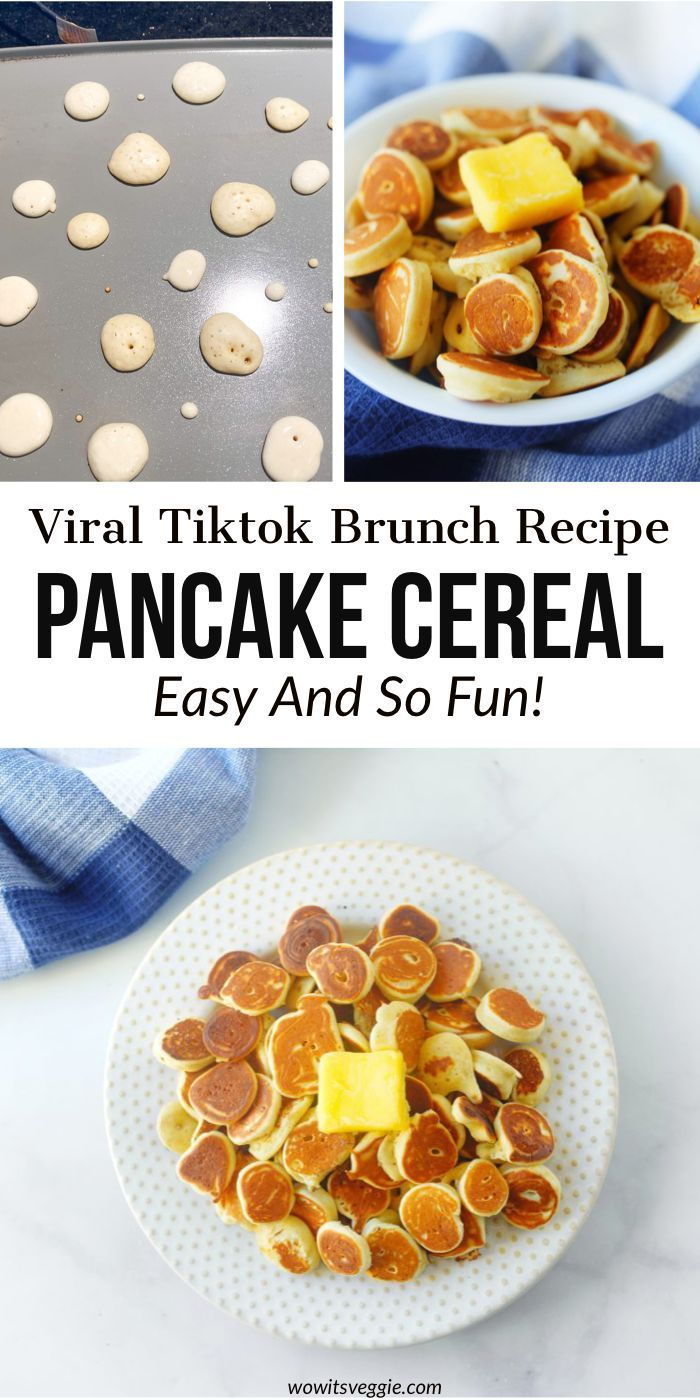 How To Easily Make Pancake Cereal Viral Tiktok Trend Recipe Interesting Food Recipes Recipes Breakfast Brunch Recipes