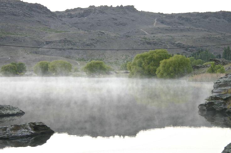 Smoke on the water! Near Alexandra, Central Otago, New Zealand