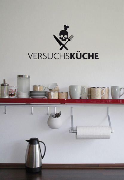 Versuchsküche, Wandtattoo, Wandaufkleber, Sticker von wandlounge auf DaWanda.com