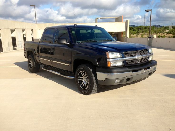 2005 Chevy Silverado Crew Cab Z71 82,123 Miles Engine: 5.3 Liter V8 Transmission: 5 Speed Auto Drive Type: 4WD Mpg city/hwy: 15/19 Stereo/nav options: CD/AM/FM/MP3 w/ premium stereo Air bag: Dual Front, Side Curtain Add'l options:  Climate Control Traction Control Cruise Control Tinted Windows Keyless Entry Towing Package Running Boards Tool Box Custom wheels & tires NADA value: 18,075 Our price: SOLD! http://www.autokinectonline.com