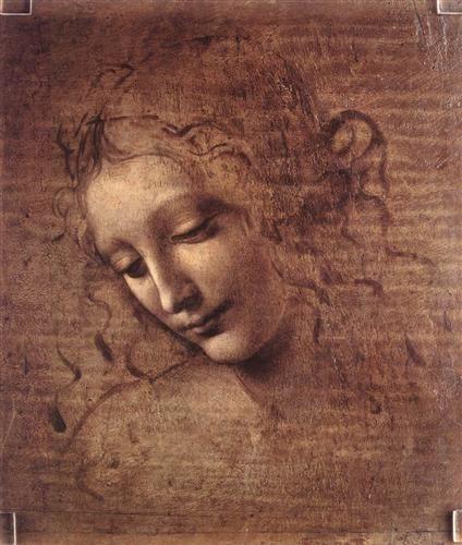 Head of a Young Woman with Tousled Hair (Leda, c. 1508) - Leonardo da Vinci