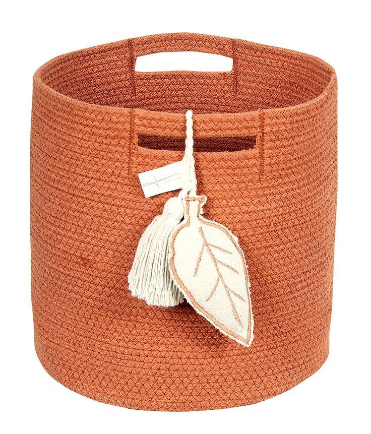 NEW Basket Leaf Terracota #washablerugs #lorenacanals #basket #ombre #accesories