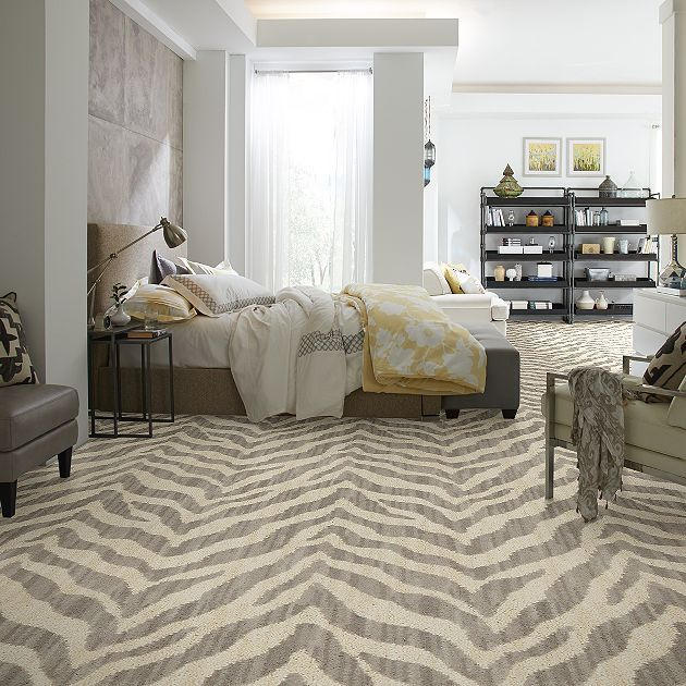 Carpet Zybra 12 - TV243 - Gray - Flooring by Shaw