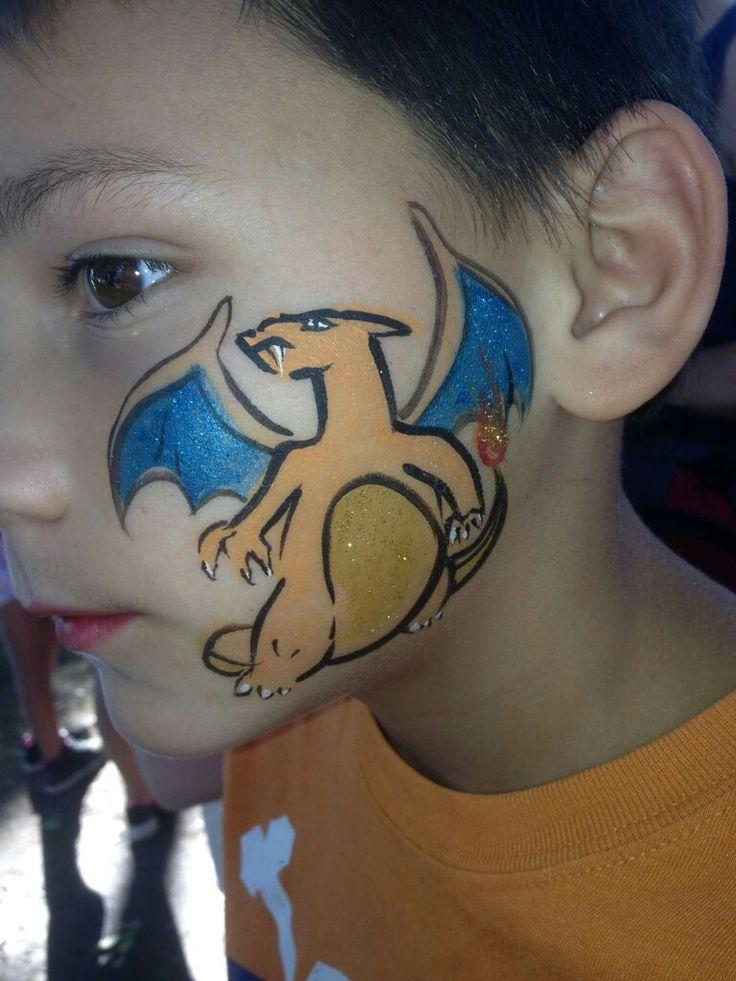 Charizard Face Paint