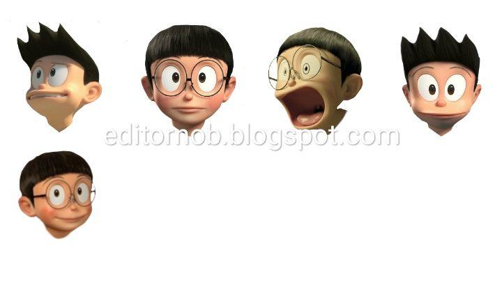 Download Kepala Nobita Cute Couple Wallpaper 3d Head Nobita Face 3d