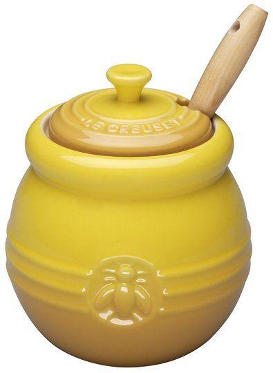 Le Creuset honey pot.