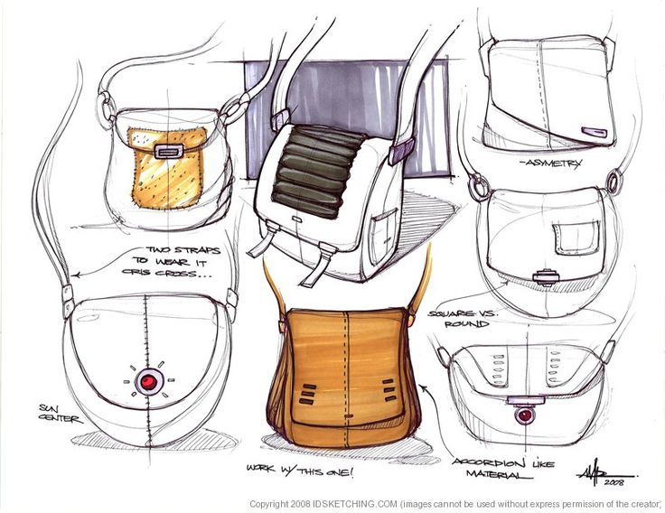 bag  Sketches | Andres Parada | Industrial Design Sketching and Drawing Tutorials