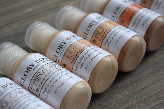 Natural liquid foundation makeup with aloe jojoba and by GloryBoon, $17.99