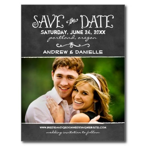 100  best images about chalkboard save the date postcards on ...