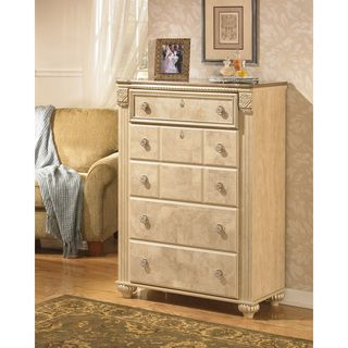 Signature Designs by Ashley 'Saveaha' Light Beige 5-drawer Chest | Overstock™ Shopping - Great Deals on Signature Design by Ashley Dressers