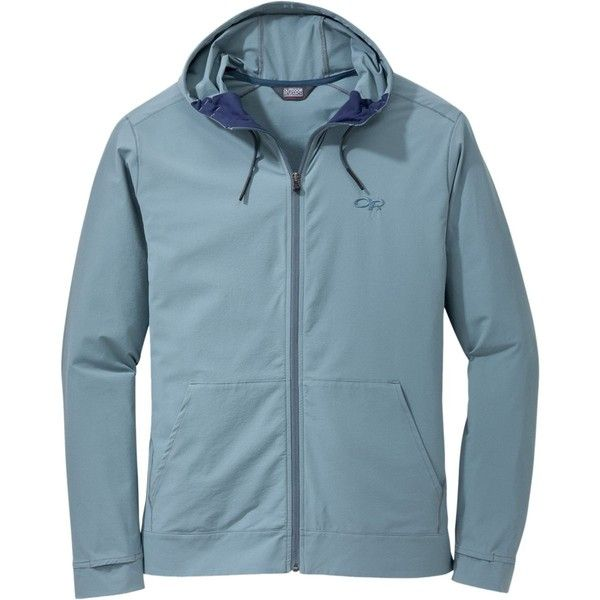 Outdoor Research Ferrosi Metro Hooded Jacket (111,995 KRW) ❤ liked on Polyvore featuring men's fashion, men's clothing, men's activewear, men's activewear jackets and mens activewear