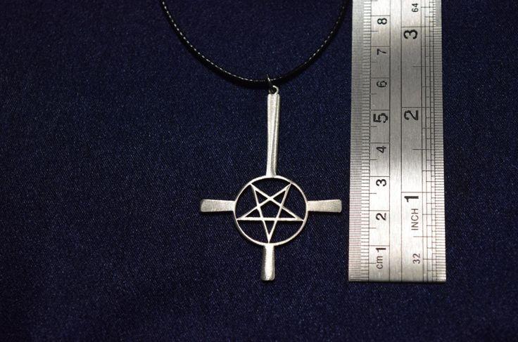 Inverted Pentagram cross Pentacle Amulet Necklace Pendant satan, satanic devil demonic, Baphomet, Seal of Lucifer Luciferian Sigil cross by PrinceSymbol on Etsy