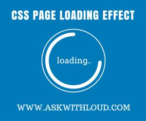"""How to install animated page loading effect on a blogspot blog with the help of Css code. This page loading effect is totally based on """".gif"""" images"""