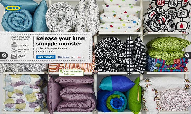 Release your inner snuggle monster. Cooler nights mean it's time to go under covers! #IKEA #PinToWin