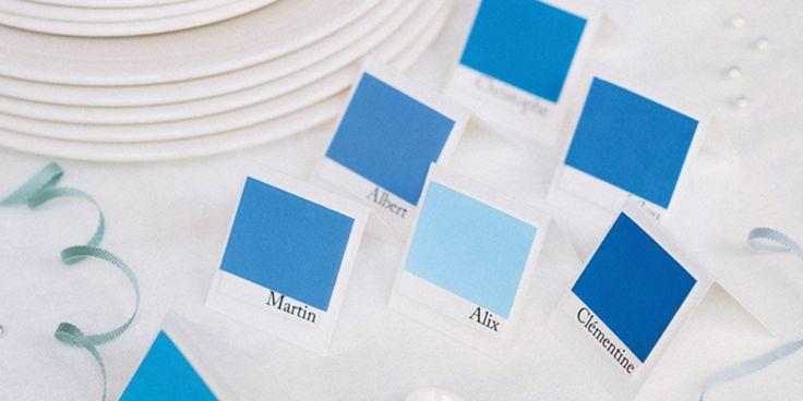 Réaliser des marque-places colorés