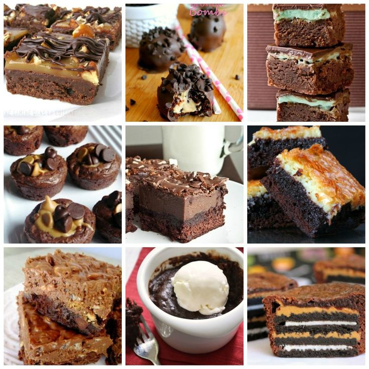 Delicious Brownie Recipe Round Up   ☀CQ #recipes. Thank you for sharing! ¯\_(ツ)_/¯