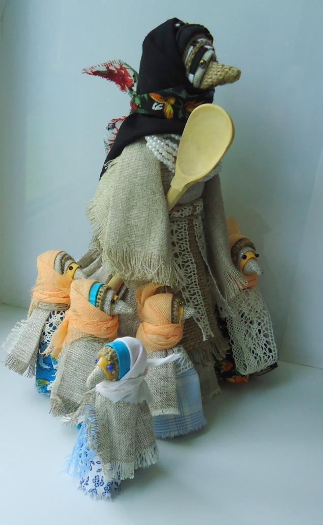 """Мастер-класс.Тряпичные куклы - """"Сорока - Ворона"""" или брошь """"Сорока-Воровка"""" - Ярмарка Мастеров - ручная работа, handmade"""