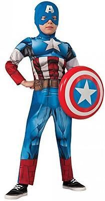 Halloween Costumes Kids: Childs Deluxe Captain America Size Medium BUY IT NOW ONLY: $30.95