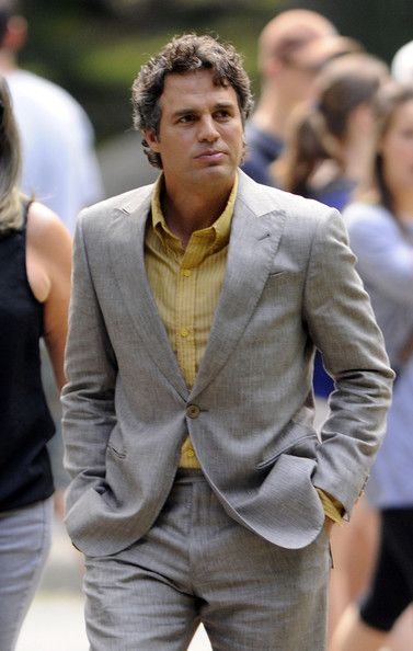 Bruce Banner -- I just know those are Tony's clothes he lent Banner until Stark can take him shopping...