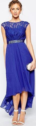 Vestido largo en azul cobalto Lori Lee de Coast #vestidos #moda