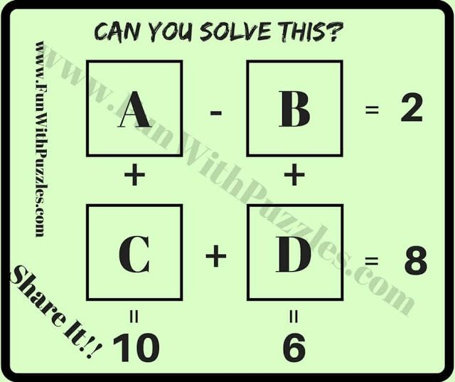 Easy Mathematical Puzzle Questions with Answers for students | math