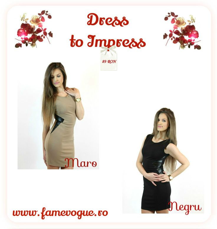 Dress to impress with these two frocks completed with faux #leather insertions..available at www.famevogue.ro...:)  #dress #style #casual #fashion #2015 #trends