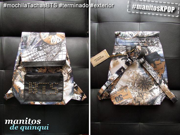 #mochilaTachasBTS #manitosDeQuinqui #manitosKPOP #manualidades #hechoamano #handmade #kpop #bts #armys