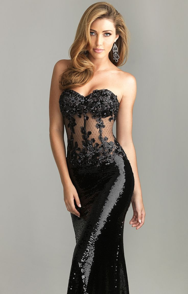 Black dress ebay - Details About Night Moves By Allure 6611 Black Sequin Embellished Prom Dress Gown 4 6 8 10 New